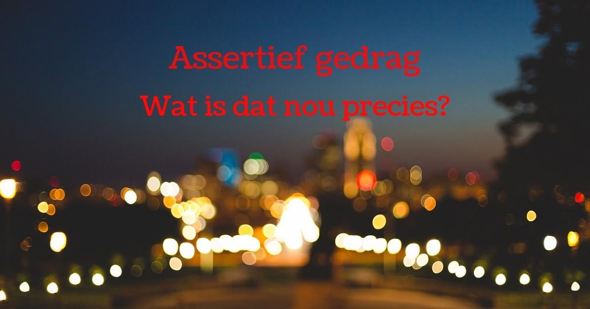 Wat Is Assertief Gedrag?