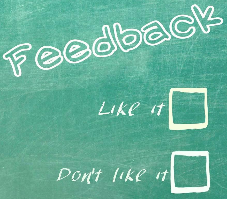 feedback wel of niet aannemen